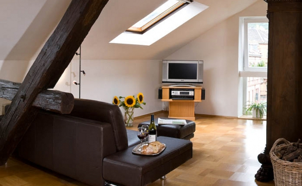Stadtvilla Neustadt - Wohnzimmer - Fernsehbereich