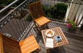 Stadtvilla Neustadt - kleiner Balkon - auch für Raucher