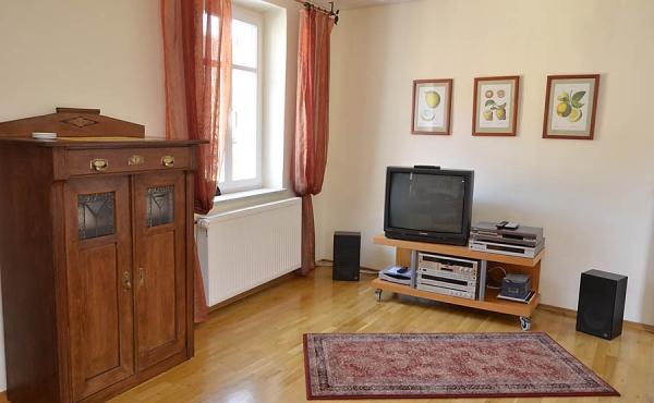 Gemütliches Wohnzimmer, Fewo Kirchbergblick - Haus am Schlossberg, Neustadt / Weinstr., Weindorf Hambach