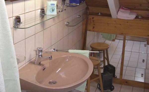 Bad mit Dusche / WC - Ferienwohnung Haus Schlossblick, Neustadt / Weinstr., Weindorf Gimmeldingen