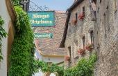 Das Gästehaus Meerspinne ist nur wenige Schritte vom Weingut Thomas Steigelmann entfernt
