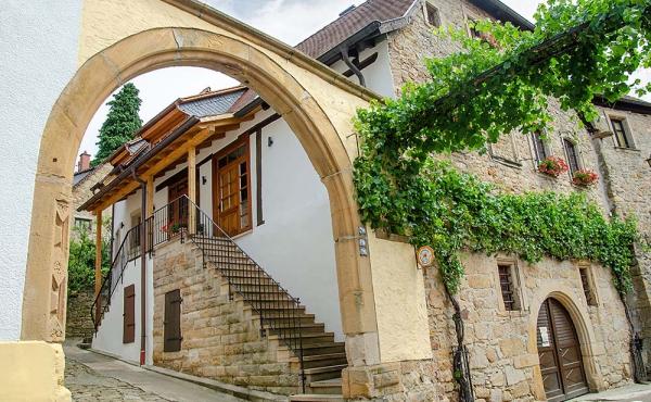 Eingang vom Gästehaus Meerspinne - Weingut Thomas Steigelmann, Gimmeldingen (Pfalz), Neustadt / Weinstr.