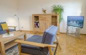 Wohnzimmer, neu renoviert und eingerichtet - Ferienwohnung Meerspinne, Weingut Thomas Steigelmann, Gimmeldingen (Pfalz), Neustadt / Weinstr.