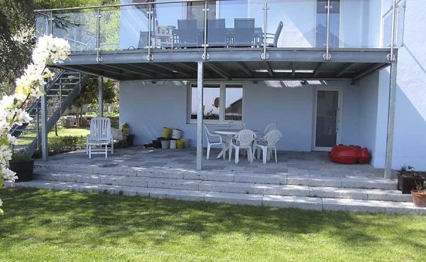 Terrasse - Ferienwohnung Haus Biengarten, Weindorf Gimmeldingen, Neustadt / Weinstr. (Pfalz)