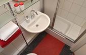 kleines Bad mit Dusche / WC - Ferienwohnung Kastanienbusch, Haus Mandelblüte, Weindorf Gimmeldingen, Neustadt / Weinstr. (Pfalz)