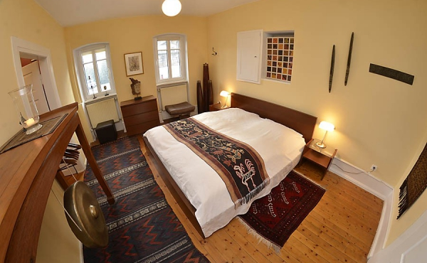 Schlafzimmer - Ferienwohnung Mönchgarten, Haus Mandelblüte, Weindorf Gimmeldingen, Neustadt / Weinstr. (Pfalz)