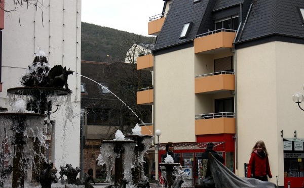 Der Elwedritsche-Brunnen im Stadtzentrum - Ferienwohnung am Elwedritschebrunnen, Neustadt / Weinstraße (Pfalz)