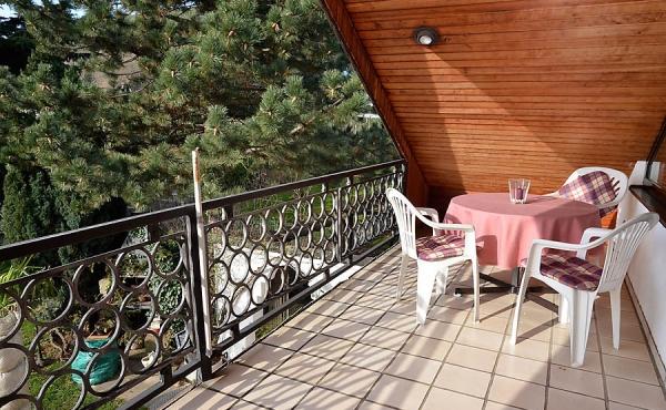 Balkon mit Morgensonne - Ferienwohnung Haus Rebland, Weindorf Gimmeldingen / Königsbach, Neustadt / Weinstr. (Pfalz)