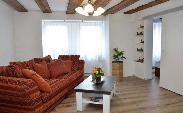 Wohnzimmer - Apartment Ambiente, Hof Rebenblüte, Weindorf Gimmeldingen, Neustadt / Weinstr. (Pfalz)